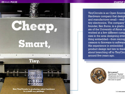 TinyCircuits featured in EEWeb Pulse
