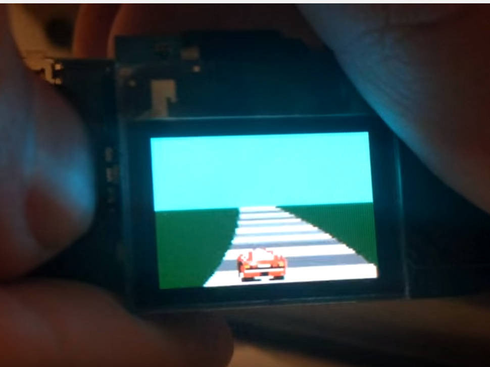 World's Smallest OutRun clone - on a TinyScreen!