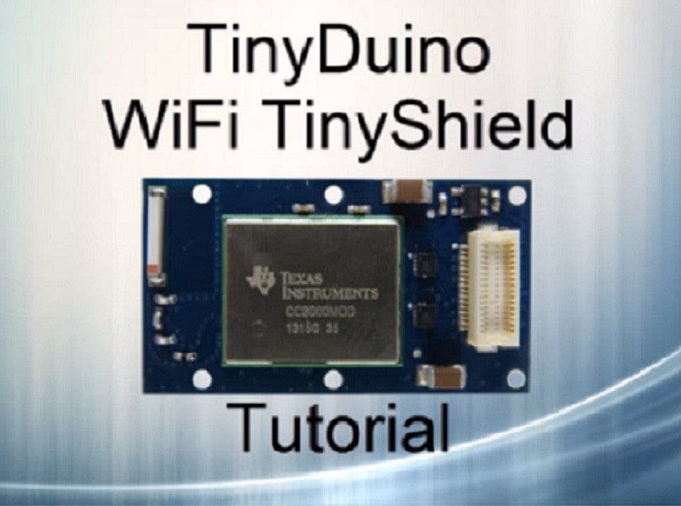 Using the WiFi TinyShield Tutorial