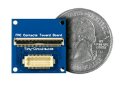 Ribbon Cable Extender Shield quarter size comparison