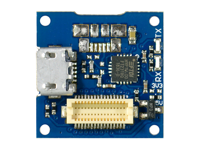 USB Shield with connector on side