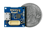 USB Shield quarter size comparison