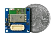 Bluetooth Low Energy Shield (ST) quarter size comparison