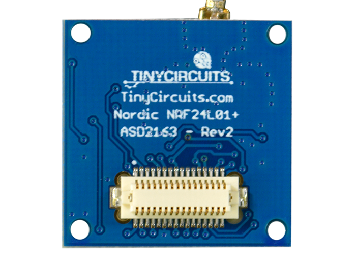NRF24L01+ 2.4GHz Radio Shield back view