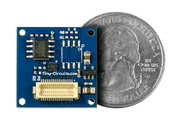 Flash Memory Shield quarter size comparison