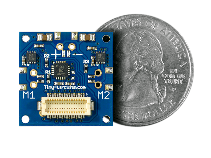Dual Motor Shield quarter size comparison