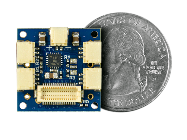 Servo Shield quarter size comparison