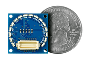 16 Edge LED Shield Quarter Size Comparison