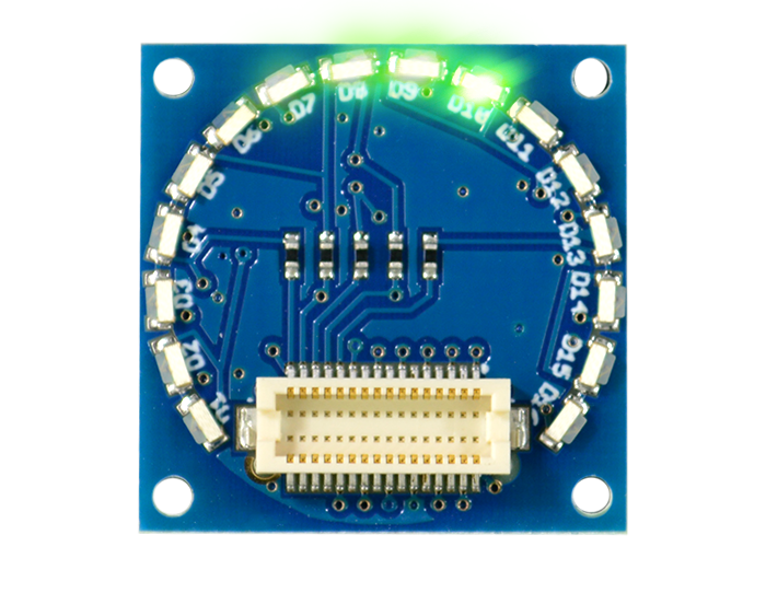 16 Edge LED Shield Green Light