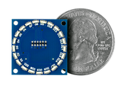 Circle Edge LED Shield quarter size comparison