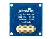 7 Segment Display TinyShield Back View