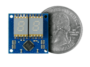 7 Segment Display Shield Quarter Size Comparison