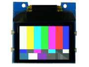 TinyScreen OLED Shield with SMPTE color bars