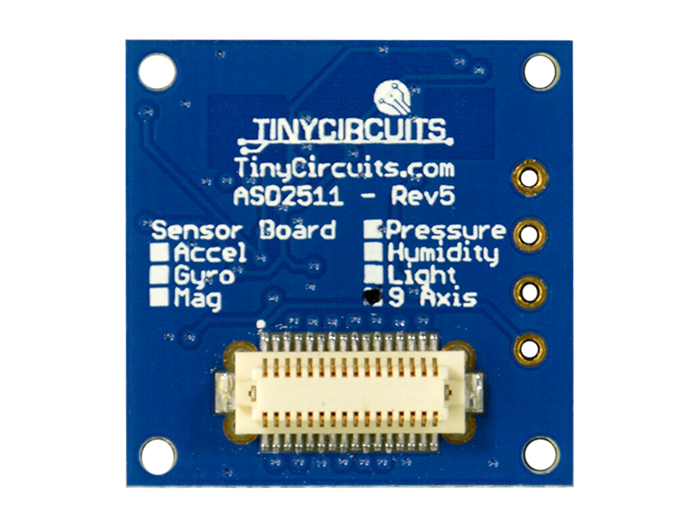 9-Axis IMU Shield Back View