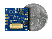 9-Axis IMU Shield Quarter Size Comparison