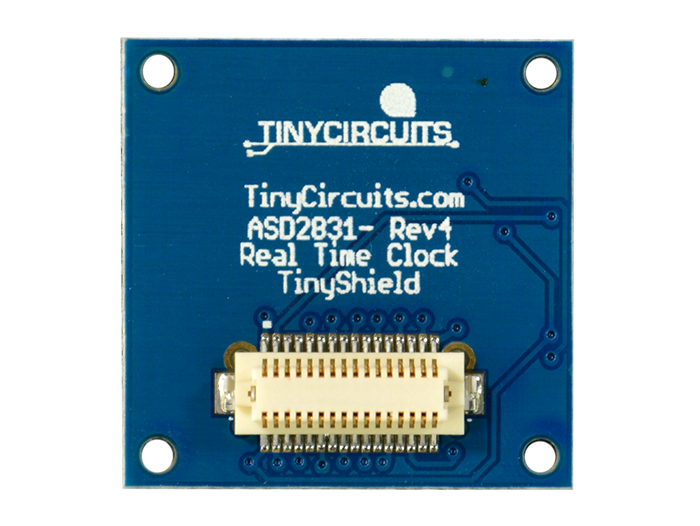 Real-Time Clock Shield back view