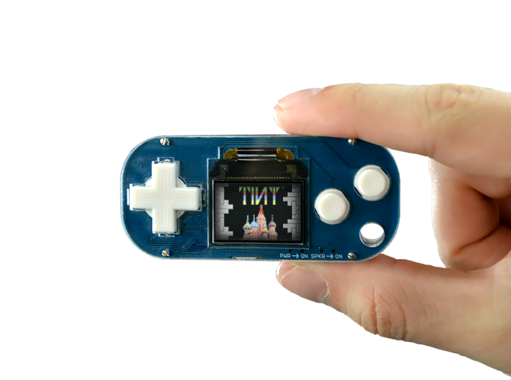 Pocket Arcade in someone's hand