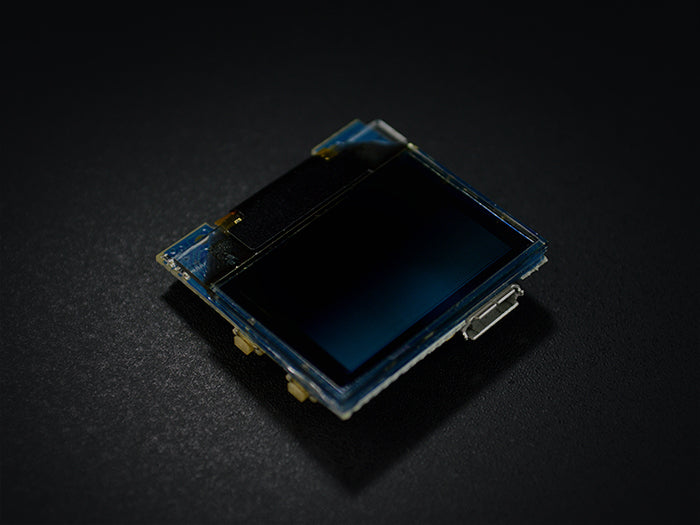 TinyScreen+ (Processor, OLED & USB in one) cinematic view