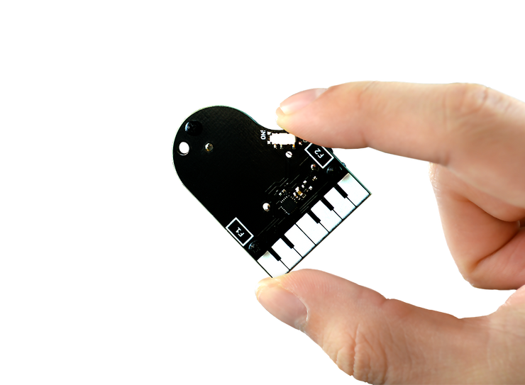 TinyPiano in someone's hand
