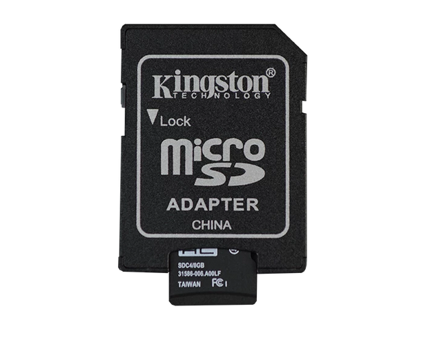 MicroSD Card and Adapter 8GB - TinyCircuits