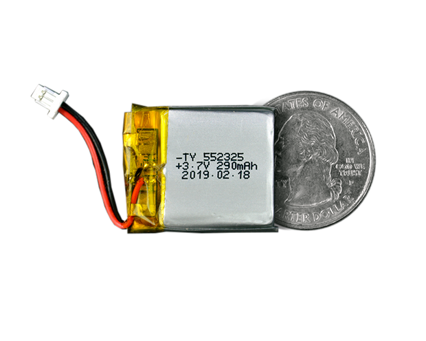 Lithium Ion Polymer Battery - 3.7V 290mAh - TinyCircuits