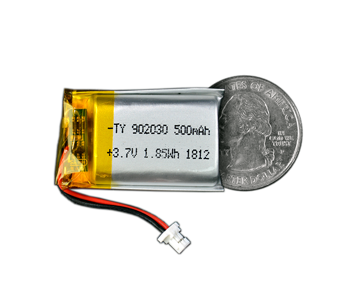Lithium Ion Polymer Battery - 3.7V 500mAh - TinyCircuits