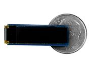 "0.69"" OLED Screen Wireling compared to a dime"