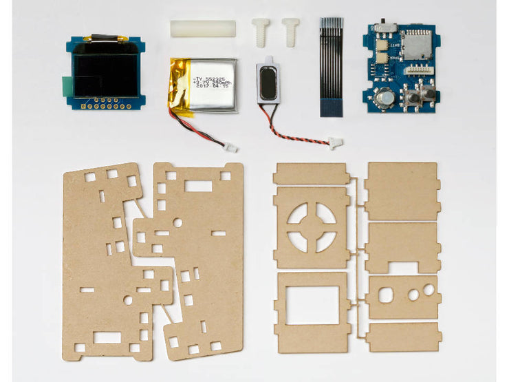 Tiny Arcade DIY Kit - Retail - parts spread out