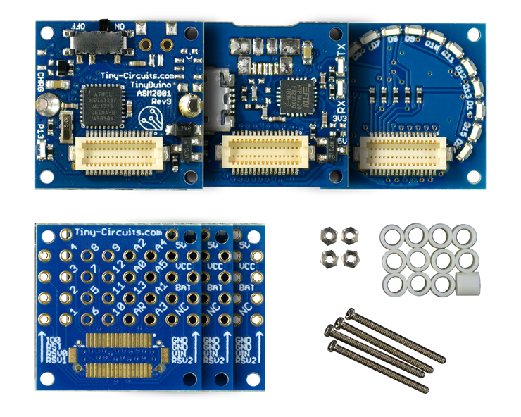 TinyDuino Starter Kit - Coin Cell Version - TinyCircuits