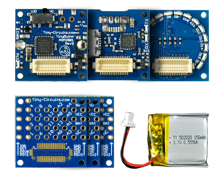 TinyDuino Starter Kit - Lithium Version