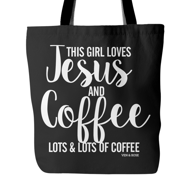 Jesus & Coffee Tote Bag - Ven & Rose