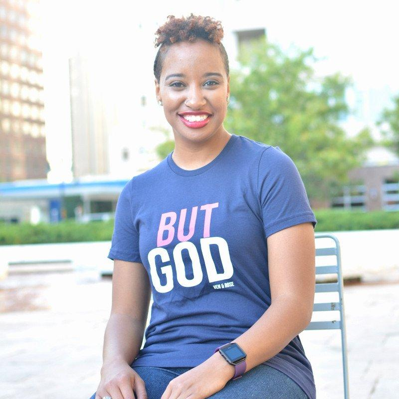 But God Fitted Tee - Ven & Rose