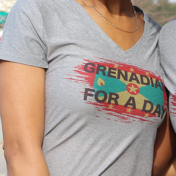 """Grenada Me Come From/ Grenadian For A Day"" T-Shirt - Ven & Rose"