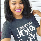 Jesus & Coffee UNISEX T-shirt | Coffee Lovers Gift *SALE - Ven & Rose