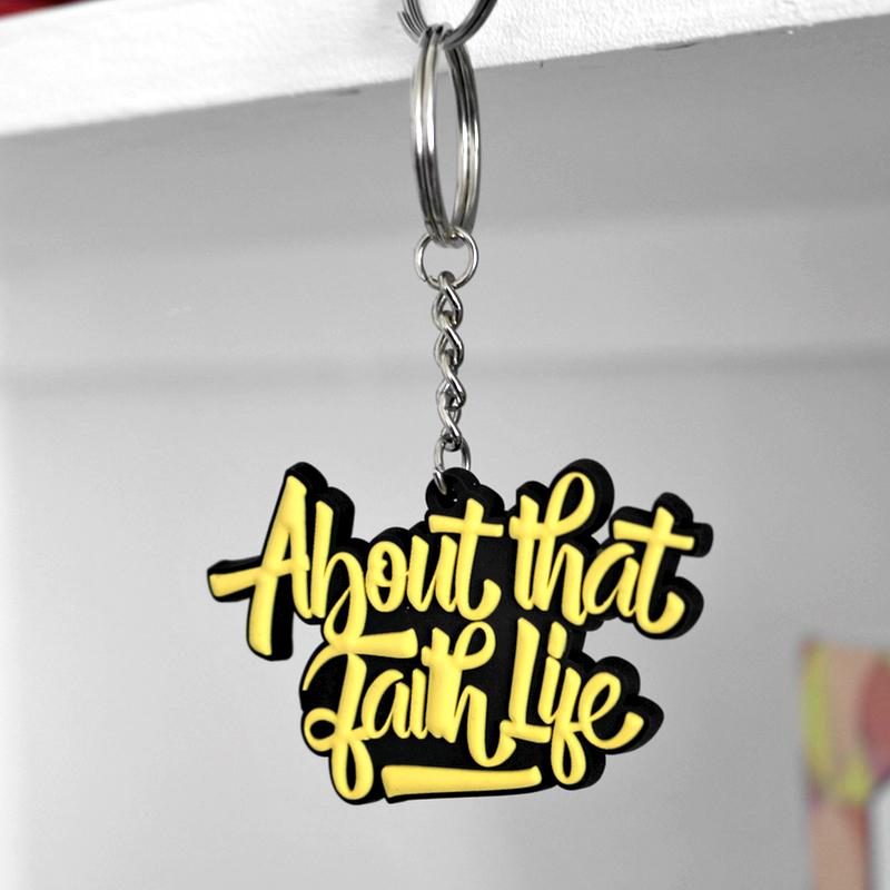 About That Faith Life Keychain