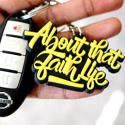 About That Faith Life Keychain - Ven & Rose