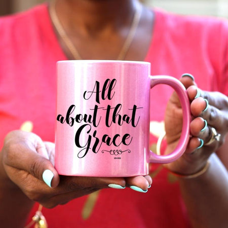 God Created Tea Gold/Pink/White Mug