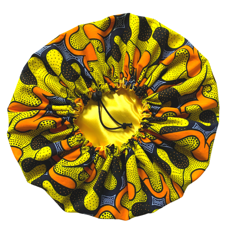"""Sunny Waves"" Adjustable Sleep Cap (More fabric options)"