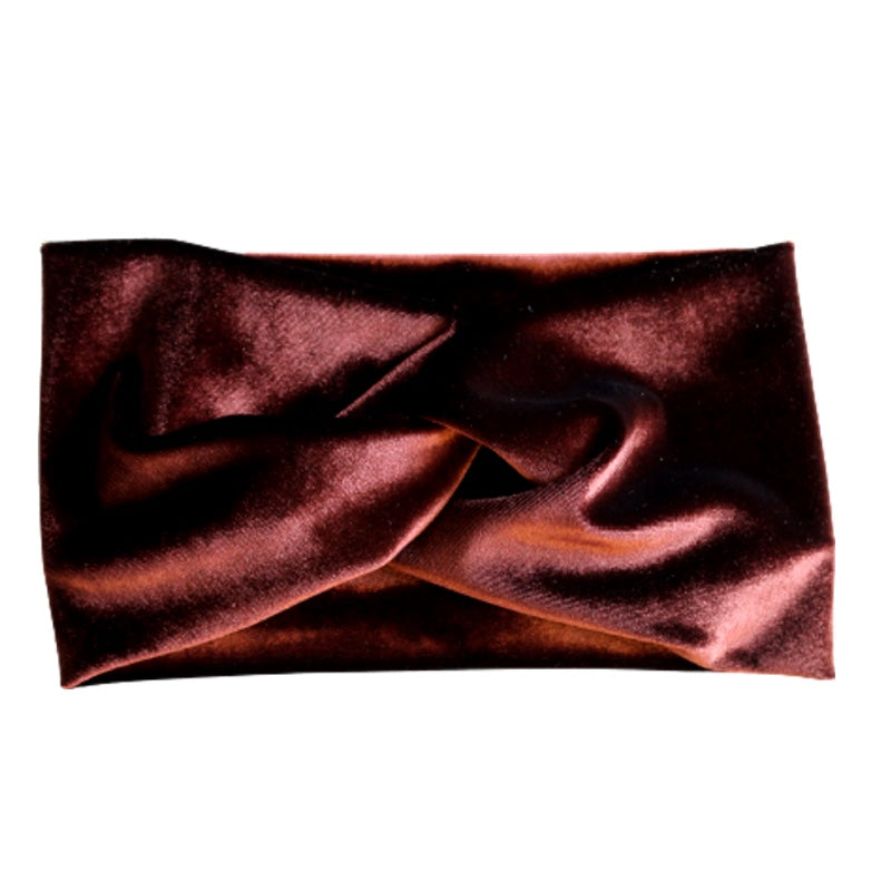 chocolate brow stretch velvet turban twist headband