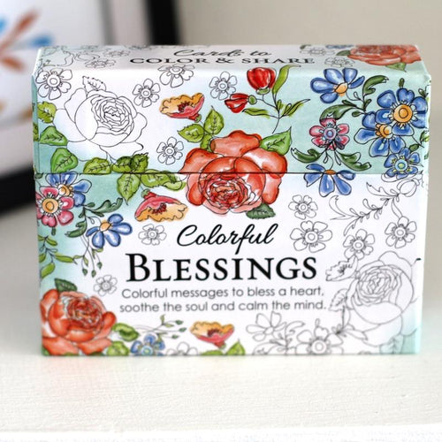 Colorful Blessings - Inspirational Coloring Cards - Ven & Rose