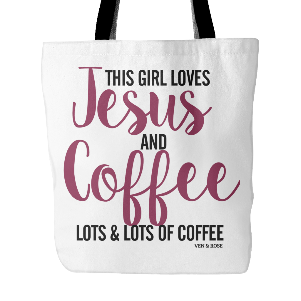 Jesus & Coffee Tote Bag (3 Colors) - Ven & Rose