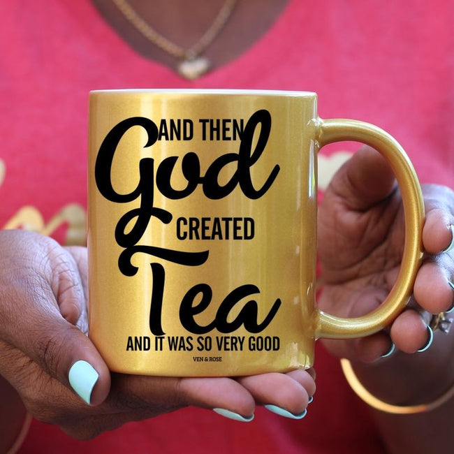 God Created Tea Gold/Pink/White Mug - Ven & Rose