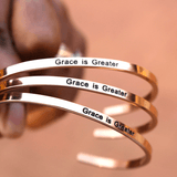 Grace is Greater Bracelets/Bangles | Inspirational Bangles - Ven & Rose