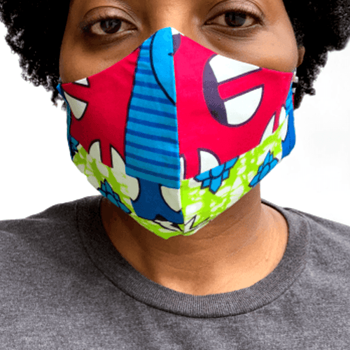 ankara fabric handmade face mask