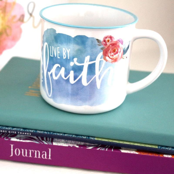 Live by Faith Camp Mug - Ven & Rose