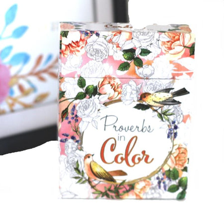 Colorful Blessings - Inspirational Coloring Cards