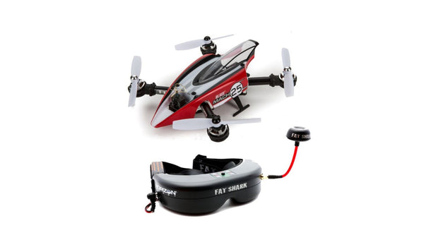 BLADE Mach 25 with Teleporter V4 Video Headset - Red Rocket Hobby Shop