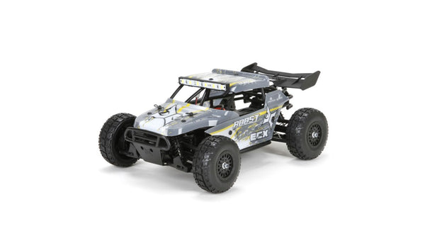 ECX 1/18 Roost 4WD Desert Buggy: Grey/Yellow RTR - Red Rocket Hobby Shop