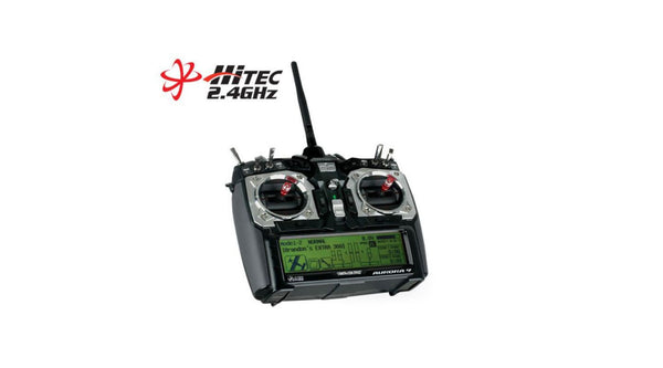 Hitec RCD Inc. Aurora 9 2.4Ghz TX & Optima 6 RX SFE - Red Rocket Hobby Shop