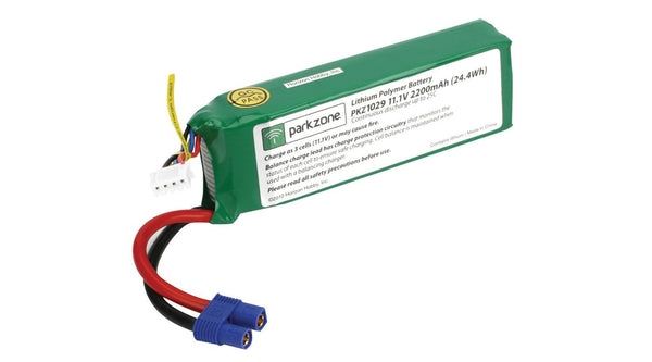 ParkZone 11.1V 3S 25C 2200mAh LiPo - Red Rocket Hobby Shop